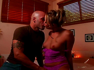 Lovely hussy Maya Hills gets penetrated hard in the bathroom