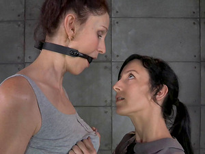 Experienced honey wants to be a marionette to her sexy apprentice
