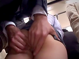 Superb bus group hookup as Asian maiden gets throbbed hard-core