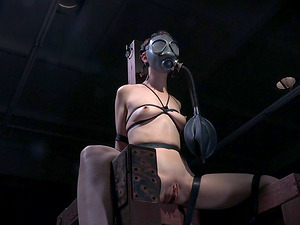 Sunburn stockings are sexy on this skinny restrain bondage whore