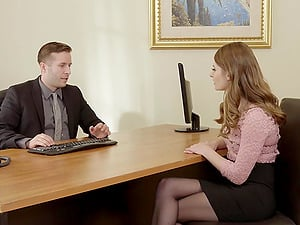 Pervy Chief Fucks Sexy Office Assistant Alice March