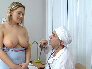 Big tits honey hairless vulva ravished xxx by horny physician
