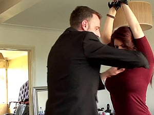 Ginger-haired with large knockers and the Sadism & masochism venture she won't leave behind