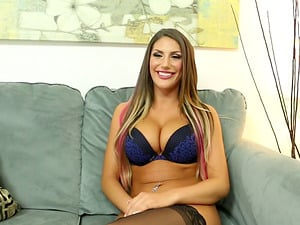 Ravishing and big-chested beauty August Ames loves being drilled hard