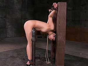Asian cutie getting drilled with the black dick in the hookup basement