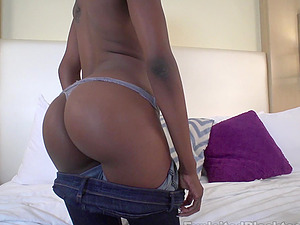 Black Teenage Nymph w nice Booty gets Bootie Fucked Hard in Ass fucking Vid