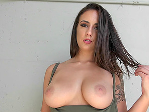 Long-haired bombshell gives the stud a tit banging and rails his big schlong