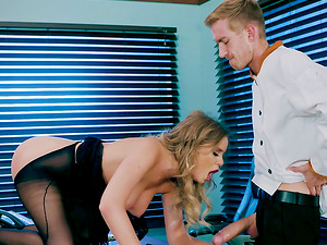 Bootylicious Alexis rails the dick finer than any other office dame