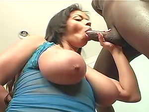 Latina chubby taut buttfuck screwed hard-core with big black hard-on