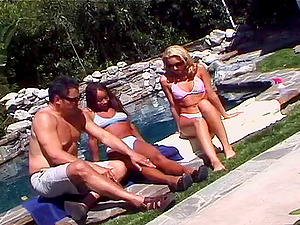 Dark-hued with hot donk loving her ass fucking getting pounded at the pool