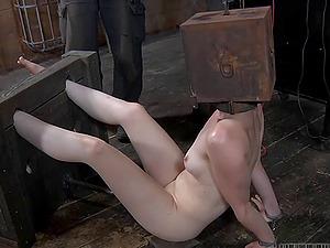 Hazel Hypnotic's sexy feet kittled by a horny fellow