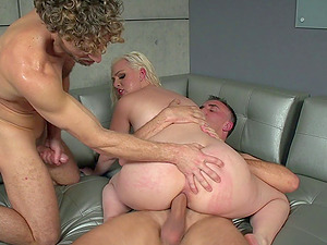 Beautiful Jenna Ivory and two peckers for all of her mischievous needs