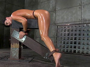 Restrain bondage cowgirl withstanding rough fucking in Domination & submission