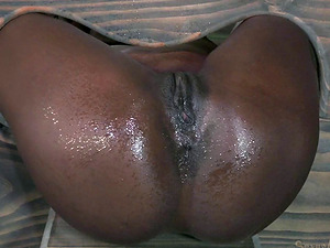 Chocolate chick is deepthroated and banged with the stiff milky dick