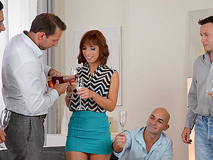 Gorgeous Tina Hot ultimately knows how it perceives to be in a gang-fuck
