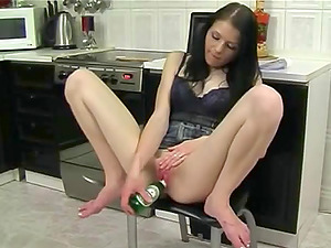 Camgirl Jena Plays With Her Cock-squeezing Cunt And Random Playthings