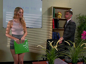 Elegant damsel called Jillian indeed likes to get ravaged at the office