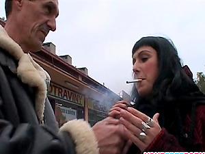 Sexy Dark haired Fucks Stranger from the Street