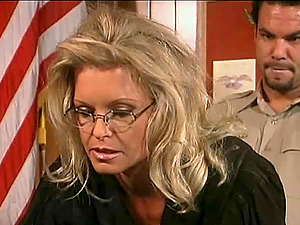Sexy blonde judge is going to have her vagina wrecked