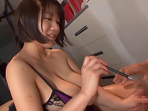Big-chested Kaho Shibuya's nice tits are all a randy fellow hankers to perceive