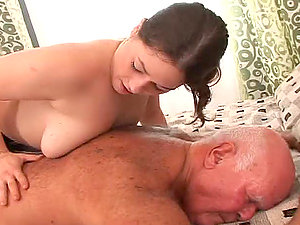 Chubby Chick Fucking An Old Man .