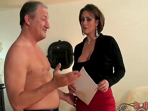 Eva Notty grabbed and commenced pleasing a pulsating schlong