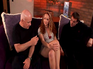 Nasty wifey collective in couch and railing a pulsating shaft
