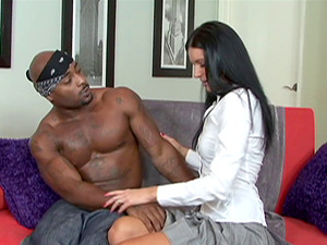India Summer likes chocolate dicks the most and she has joy with one