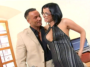 Renata Black gets her knees dirty before she gets humped at an office