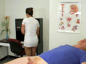 Hot nurse Eva Notty gets frolic with a man's pulsating dick