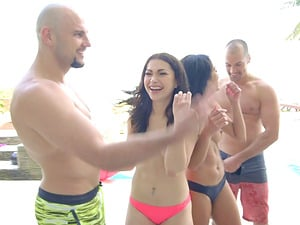 Spring Break and her insatiable friends love pulsating dicks