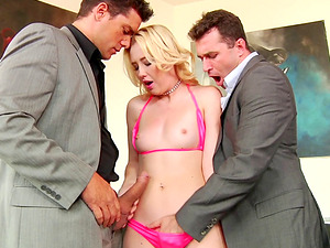 Samantha Rone is only blessed when she has two dicks to have fun with