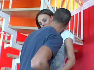 Fetching stunner Amanda got her widely opened fuck hole broad