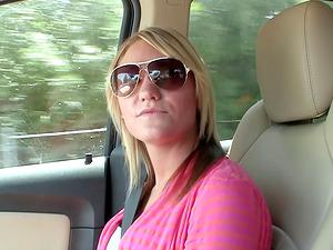 School dame Jennie tastes a boner and puts it in her labia