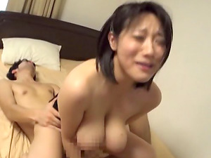 MMF threeway with an Asian honey with gigantic breasts Kaho Shibuya