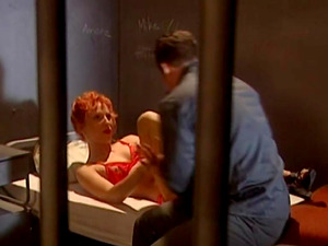 Ruby Elvira in crimson undergarments loves youthfull hard peckers