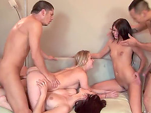 Neighborhood Swingers get together and begin fucking hard