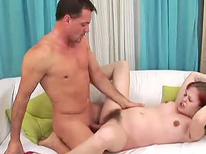 Fat and slappy honey gets her hairy beaver fucked hard