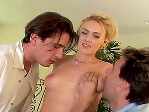 Ultra-cute Blonde Dual Fucked By Two Big Peckers.
