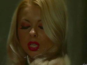 Lea Tyron the gorgeous blonde chick masturbating in jail