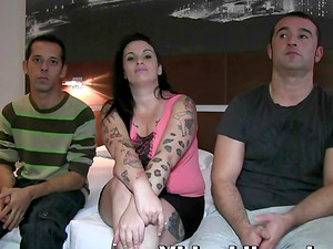 Crazy Rules is happy to be ravished by a couple of cocks