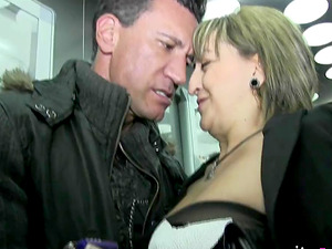 Marco Banderas wrecking the horny cunt of a blonde slut