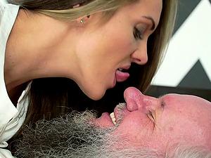 Alluring Dominica Fox enjoying with her ancient fucker Albert