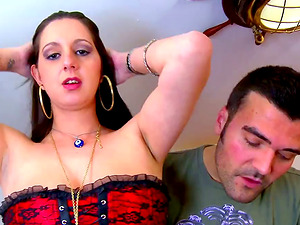 Sonia Sex enjoying Terry and Christian Frey's boners