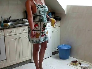 Mature housewife Maria likes making her man's cock stiff
