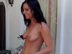 Ariana Jollee riding a stiffy ravaging her own tiny butthole