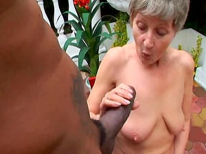 Ancient babe Granny Kitty enjoying a fat cock outdoors naughtily