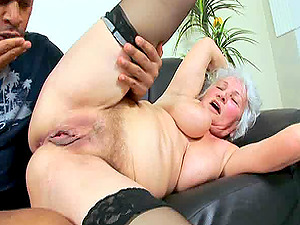 Granny Marimar has a great time with a black kinky lover
