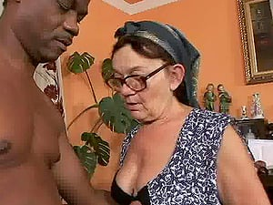 Sucking the ancient pussy of Granny Mammy and fucking her hard