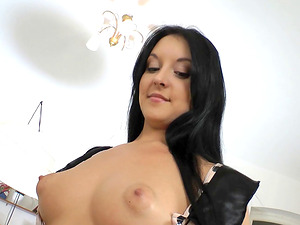 Jenna Carlton in a fantastic MMF threesome that leaves her cunt ruined